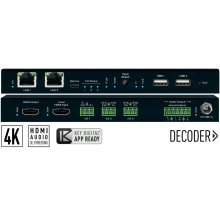 4K UHD AV over IP Decoder, 2 PoE ports LAN Switch, Local HDMI Switching, Audio De-Embedding, Video Wall Processing, KVM/USB