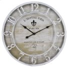 L'Hotel Des Fleurs White Wall Clock Product Image