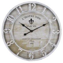 L'Hotel Des Fleurs White Wall Clock