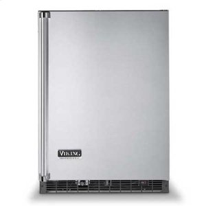 "Metallic Silver 24"" Wide Beverage Center with Ice Maker - VURI (Professional model)"