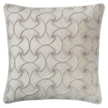 Deja Vu Pillow, PLATINUM, 22X22