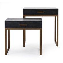 Cash Wood Side Tables - Set of 2