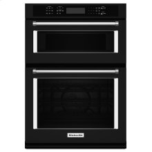 """30"""" Combination Wall Oven with Even-Heat™ True Convection (Lower Oven) - Black"""