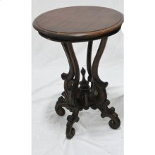 Victorian Round Table with Wood Top