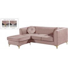 "Eliana Velvet Reversible 2pc. Sectional - 88"" W x 65"" D x 31.5"" H"