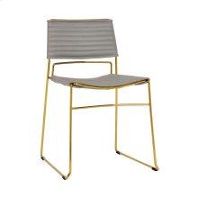 Domani Grey Vegan Leather Chair (Set of 2)