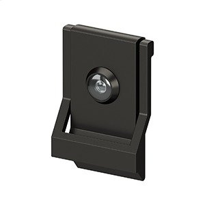 Modern Door Knocker, UL Listed Viewer, Solid Brass - Oil-rubbed Bronze Product Image