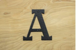 """A Black 6"""" Mailbox House Number 450150 Product Image"""
