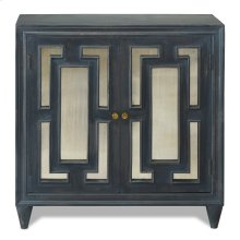 LINDEN CABINET  Charcoal Finish on Mango Wood with Antique Mirror  2 Door