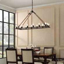 Bridge Chandelier in Black