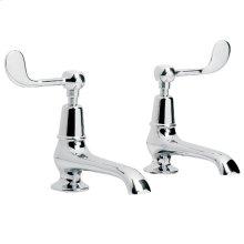 Connaught lever long nose basin pillar taps (1 pair)