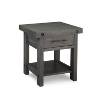 Rafters End Table w/Drawer w/Shelf