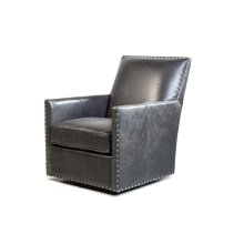 Dexter Swivel Chair - Cortina Black