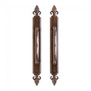 """Bordeaux Sliding Door Set - 2"""" x 18 7/8"""" Silicon Bronze Brushed Product Image"""