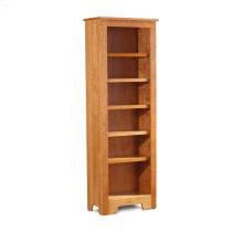 """Shaker Narrow Bookcase, Shaker Narrow Bookcase, 5-Adjustable Shelves, 25 1/2""""w"""