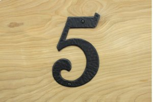 "5 Black 6"" Mailbox House Number 450150 Product Image"