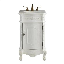 21 In. Single Bathroom Vanity Set In Antique White