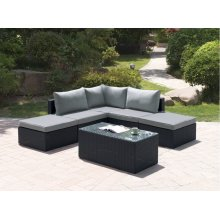 406 / Liz.p29- 6PC OUTDOOR PATIO SOFA SET [P50140(1)+P50142(2)+P50144(2)+P50150(1)]