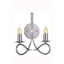 "1452 Lyndon Collection Wall Lamp W:10"" H:12"" E:8"" Lt:2 Dark Bronze Finish"