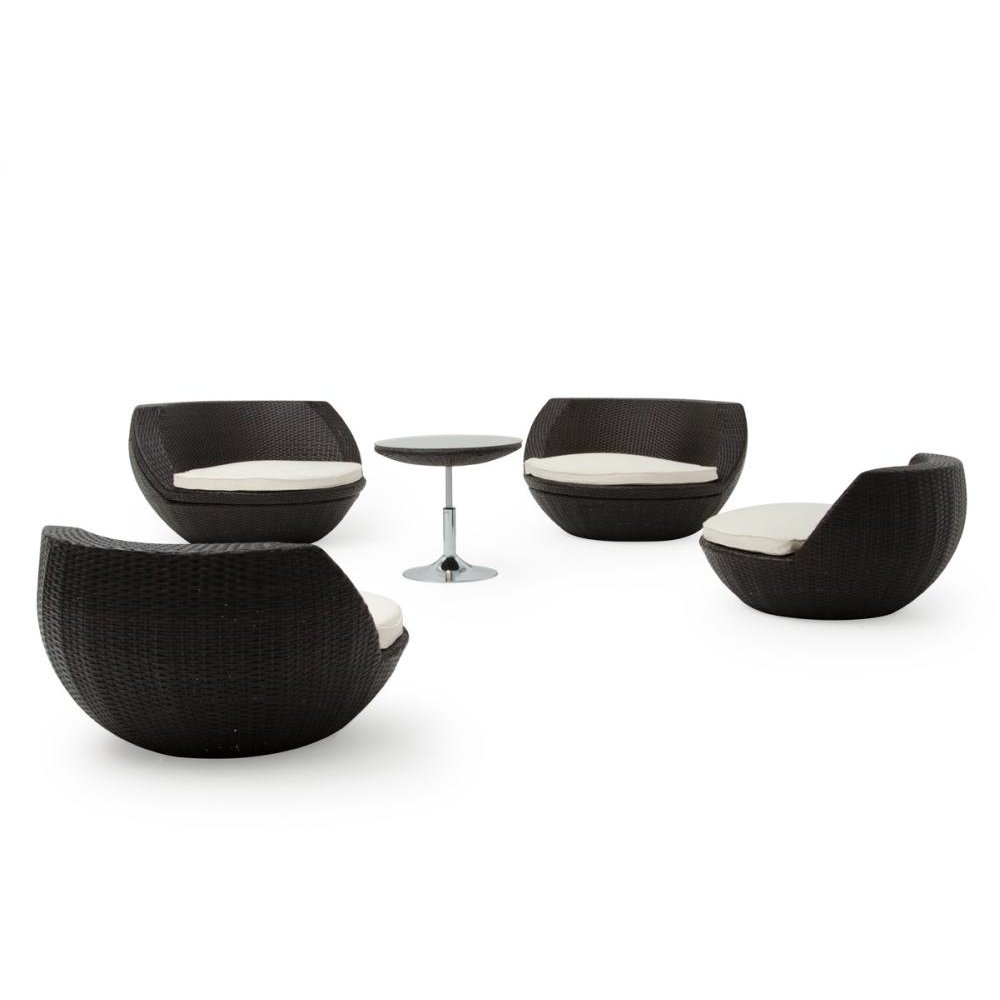 Renava Ovum Outdoor Brown Seating Set