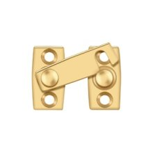 "Shutter Bar/Door Latch 1 1/8"" - PVD Polished Brass"