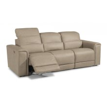 Omega Leather Sectional with Power Headrests