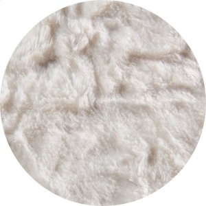 Cover for Pillow Pod or Footstool - Faux Fur - White Product Image