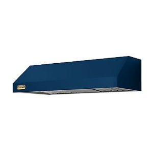 "36"" Wide 10"" High Wall Hood + Ventilator, Brass Accent"