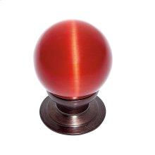 Old World Bronze 30 mm Red Cat's Eye Knob