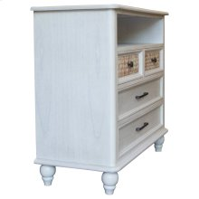 Media Chest, Available in White Sand Finish Only.