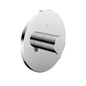 Riva pressure balance valve trim kit, without diverter, chrome Product Image