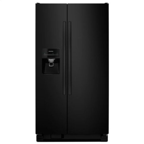 Amana® Side-by-Side Refrigerator with Dairy Center - Black