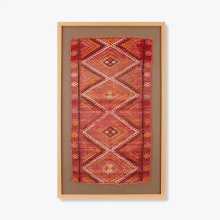0300980022 Vintage Turkish Rug Wall Art