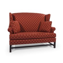 High Back Settee with Cherry Chippendale Base (1 seat)