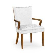 Biedermeier Style Walnut Dining Armchair (COM)