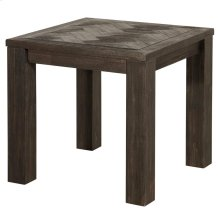 Wellington KD Herringbone End Table, Thames Dark Brown