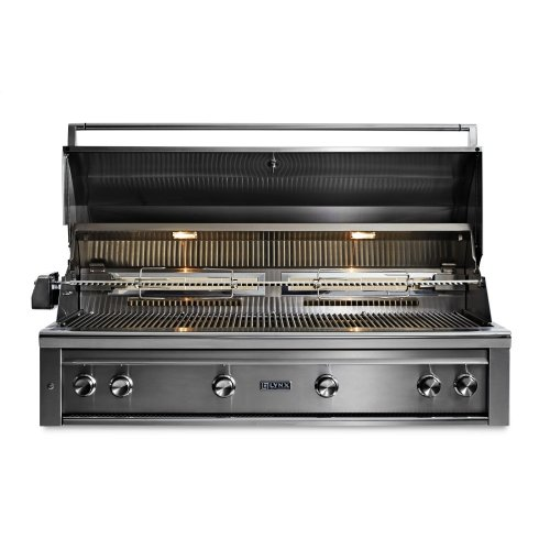"54"" Lynx Professional Built In Grill with 1 Trident and 3 Ceramic Burners and Rotisserie, NG"