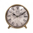 World Map Table Clock Product Image