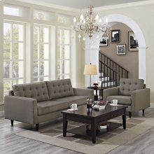 Empress Armchair and Sofa Set of 2 in Granite