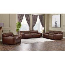 SU-AX6816-SLC  Leather 3 Piece Living Room Set  Sofa  Loveseat  Armchair  Brown