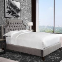Jasmine Flannel (Grey) Upholstered Bed Collection Product Image
