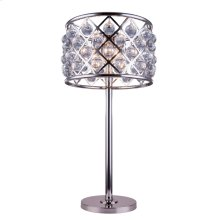 "1204 Madison Collection Table Lamp D:15.5"" H:32"" Lt:3 Polished nickel Finish (Royal Cut Crystals)"