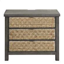 3 Drawer Accent Night Stand