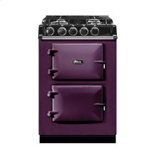 """AGA City 24"""" Electric/Natural Gas Aubergine with Stainless Steel trim"""