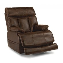 Clive Power Recliner with Power Headrest and Power Lumbar *Available in Black or Dark Brown Microfiber*