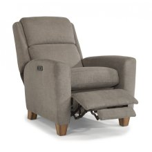 Dion Fabric Power High-Leg Recliner with Power Headrest