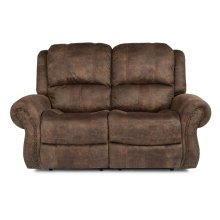 Patton Fabric Power Reclining Loveseat with Power Headrests