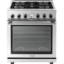 "Range NEXT 30"" Panorama Stainless steel 4 gas, electric oven, self-clean"