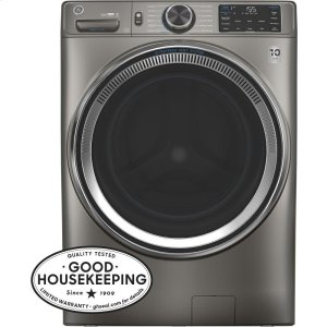 GE® 4.8 cu. ft. Capacity Smart Front Load ENERGY STAR® Steam Washer with SmartDispense™ UltraFresh Vent System with OdorBlock™ Product Image