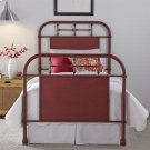 Twin Metal Bed - Red Product Image